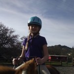 Equine therapy volunteer Ashley